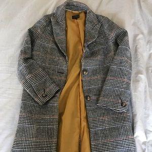 Brand New Topshop Houndstooth Coat